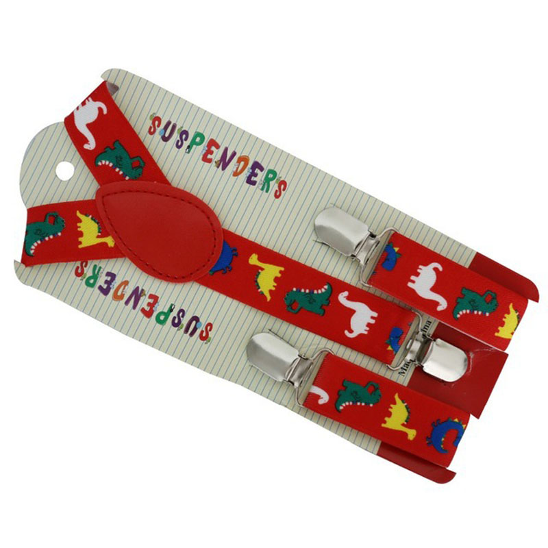 European And American Fashion Red Dinosaur Children's Suspenders  FY18101917