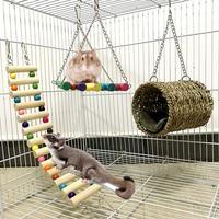 3 шт. подвесная койка для животных качели туннель дом кровать лестница хомяк белка подвесная клетка игрушка новое поступление