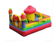 New sale  Outdoor Inflatable fun city Small mushrooms jumping bouncer