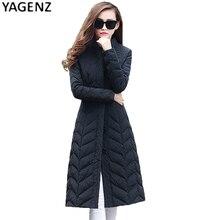 2017 Зима новый женщин вниз куртка женщин плюс длинный отрезок увеличение код женские модели вниз карман куртки YAGENZ XH45