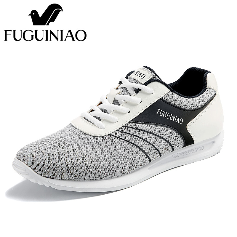 ฤดูร้อนระบายอากาศรองเท้าลำลอง!จัดส่งฟรี! FUGUINIAOที่มีคุณภาพสูงตาข่ายผู้ชายแสงแบนรองเท้า/สีสีขาว,สีดำ-ใน รองเท้าลำลองของผู้ชาย จาก รองเท้า บน   1