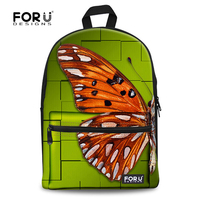 Stylish Children Girls Backpack for School Beautiful Butterfly Printing Women Backpack Casual Student Kids Cotton Laptop Bagpack