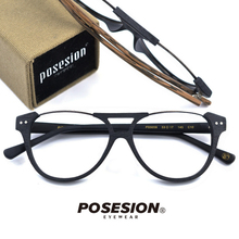 POSESION Eyeglasses Frame Men Women Fashion Vintage Computer Optical Acetate Prescription Glasses Spectacle Male Female