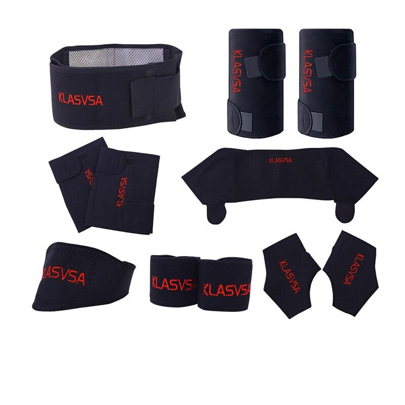 11 unids/set autocalentamiento Turmalina Cinturón Terapia Magnética Cuello Hombro Correcter Postura Brace Rodillera Productos Masajeador