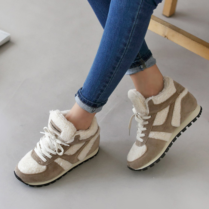 2016 new winter sneakers high top wedge shoes for