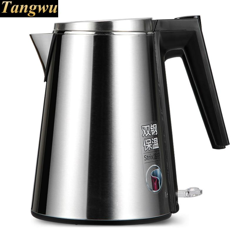 Electric kettle boiling pot food grade 304 stainless steel 1.5 liter electric kettle boiling pot food grade 304 stainless steel large capacity