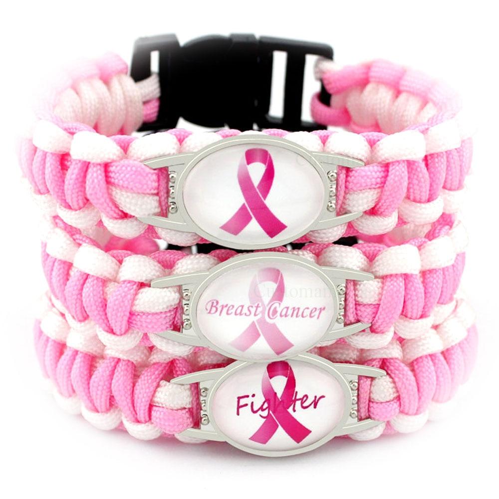 ALL PROCEEDS GO TO SUSAN G NYLON BREAST CANCER ROPE BRACELET KOMAN FOUNDATION