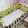 Crib bumper 1pcs baby bed around protection bumper  washable with zipper cartoon pattern design for girls boys
