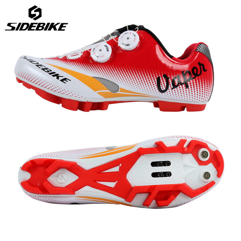SIDEBIKE Bicycle Shoes MTB Lightweight Zapatillas Ciclismo Outdoor Self-Locking Bike Cycling Shoes Racing Athletic Bicycle Shoes