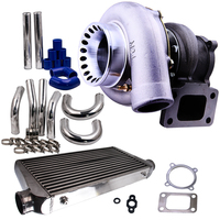 Universal Turbocharger GT35 GT3582 Turbo + 2.5 64mm Intercooler Pipe Kit + 600x300x76 Intercooler