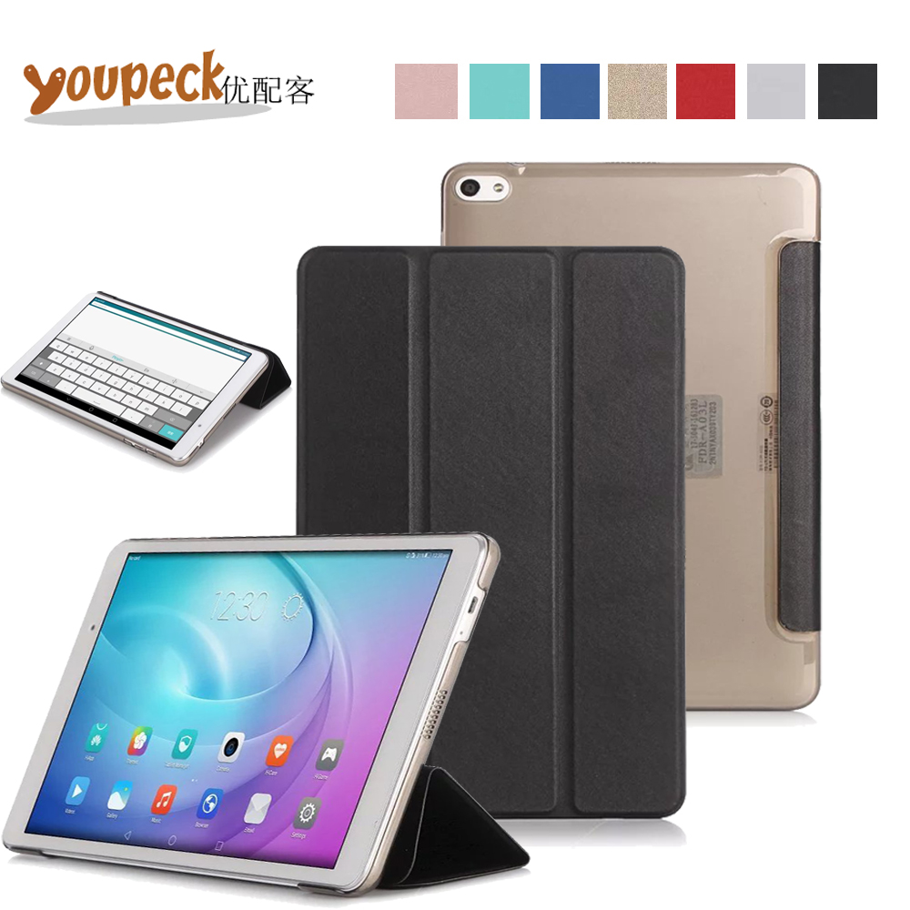 Ultra Thin Lightweight Smart Shell Pu Leather Case for Huawei MediaPad T2 10.0 Pro Tablet FDR-A01W FDR-A03L Triple Folio Cover new fashion pattern ultra slim lightweight luxury folio stand leather case cover for huawei mediapad t2 pro 10 0 fdr a01w a03l