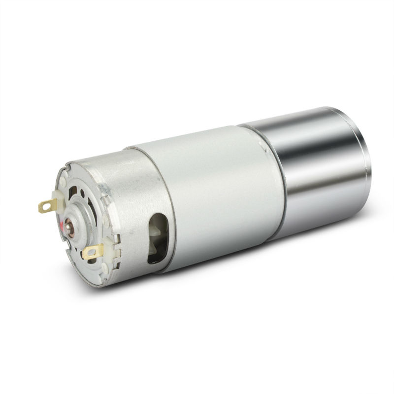12V DC Motor 30RPM Micro Gear Motor Box 37mm Diameter Speed Reduction Electric Gearbox Excentral Output Shaft High Torque 8mm dia shaft rectangle permanent planet gear box motor 14rpm dc 12v