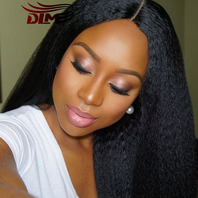 Soft Sexy Formula Hair Brazilian Virgin Hair Straight Full Lace Front Human Hair Wigs Cheap Kinky/Yaki Straight Hair Black Women