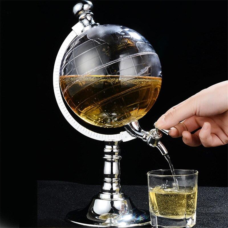 Mrosaa Globe Style Novelty Fill Up Gas Pump Bar Wine Decanter Alcohol Liquor Dispenser B ...
