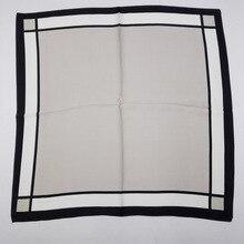 [Visual Axles] Silk Square Handkerchief Fashion Women Soft Silk Foulard Plaid Head Bandana Handkerchief New 58cm*58cm
