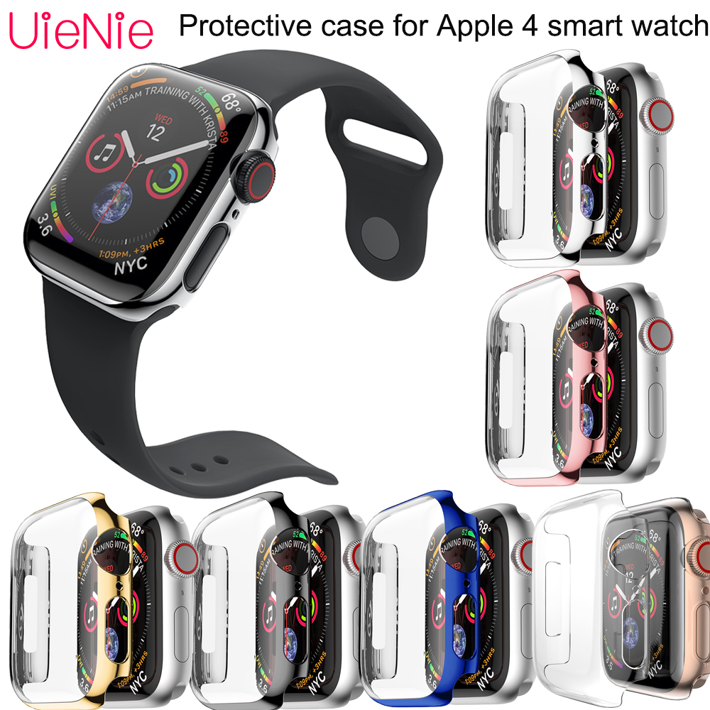 40mm width Transparent silicone case For Apple 4 smart watch dial protection accessories Hard Protective film