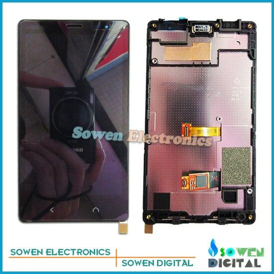 Para nokia x2 dual sim rm-1013 x2ds screen display lcd com toque digitador da tela com moldura assembléia conjunto completo, AAA ++ grau