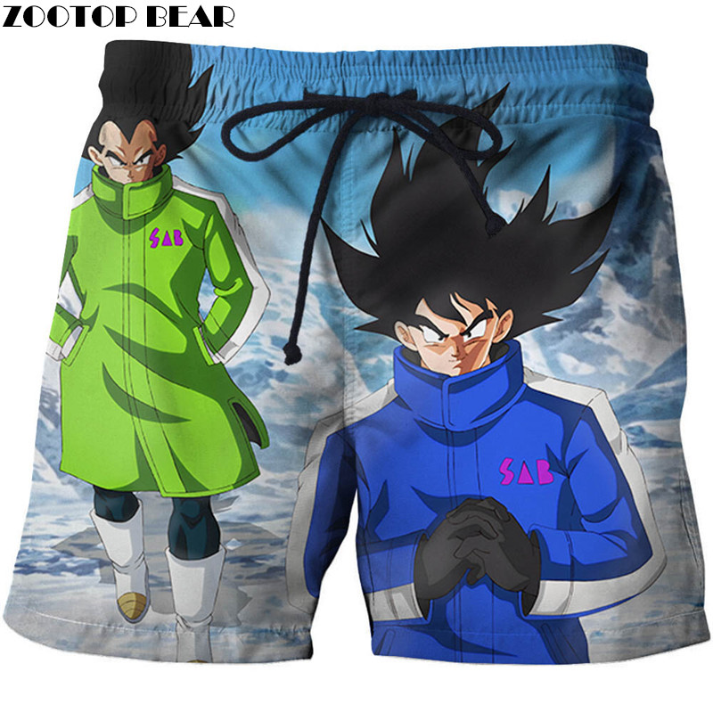 Men's Clothing Anime Dragon Ball Men Shorts Beach Casual Board Short Summer Breathable Goku Quick Dry 3d Print Hip Hop Bodybuilding Zootop Bear At Any Cost