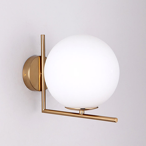 Image 5 - Modern Glass Ball Wall Lamps led Bedside Reading LED Lamp White Globe Wall Lights Indoor Home Decoration Lighting E27 Luminaire