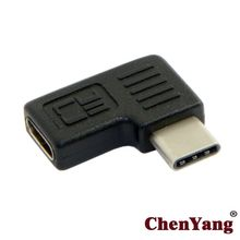 Chenyang Cable 90 Degree Right & Left Angled USB 3.1 Type C Male to Female Extension Adapter for Laptop & Tablet & Mobile Phone