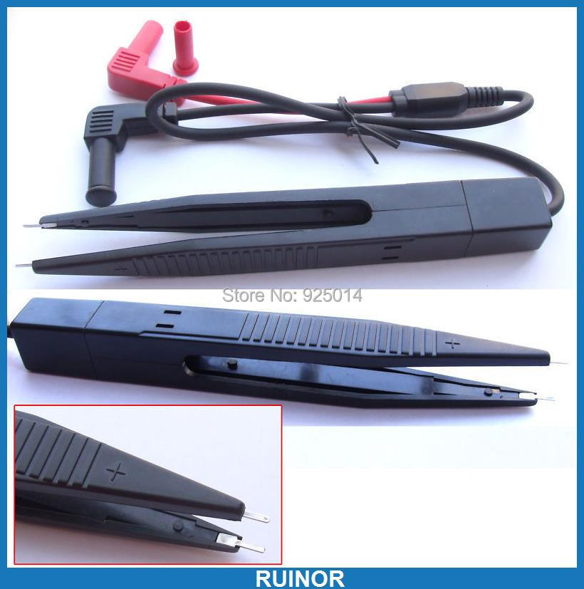 Multimeter Tweezer for IC SMT SMD Electronic component Plastic Test Clips Probes|smd multimeter probes|multimeter clip|electronic component test - title=