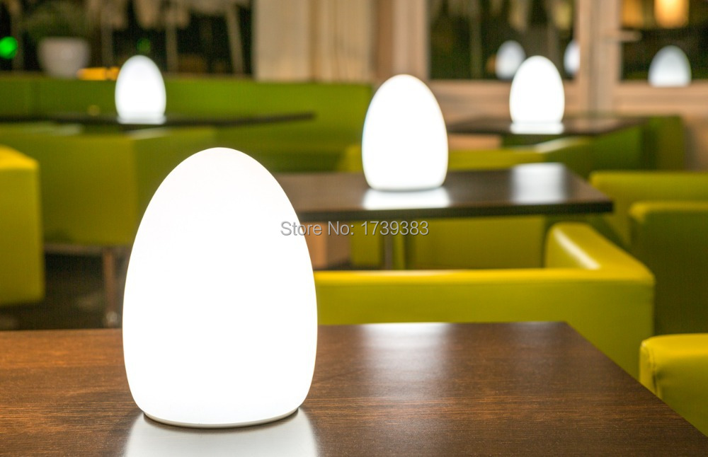4 Stks/partij D14 Kleurrijke Veranderd Oplaadbare Led Ei Nachtlampje Te Fit Tafels Van Hotels En Restaurants Lampe De Tafel Sans Fil