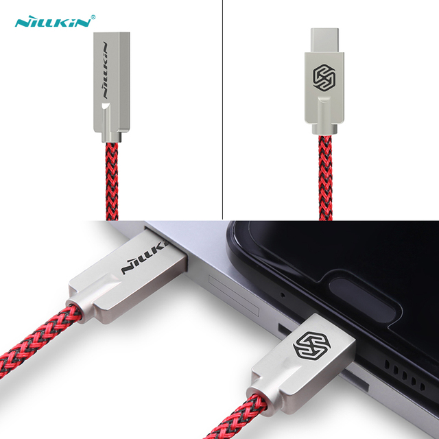 5V 2.1 A quick charge cable 1m Nillkin Type C cable USB 2.0 Chic Nylon line Metal Plug cable for xiaomi mi5 zuk z2 pro zuk z1