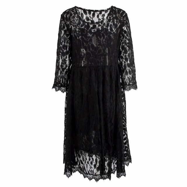 Puseky Black Lace Maternity Dress