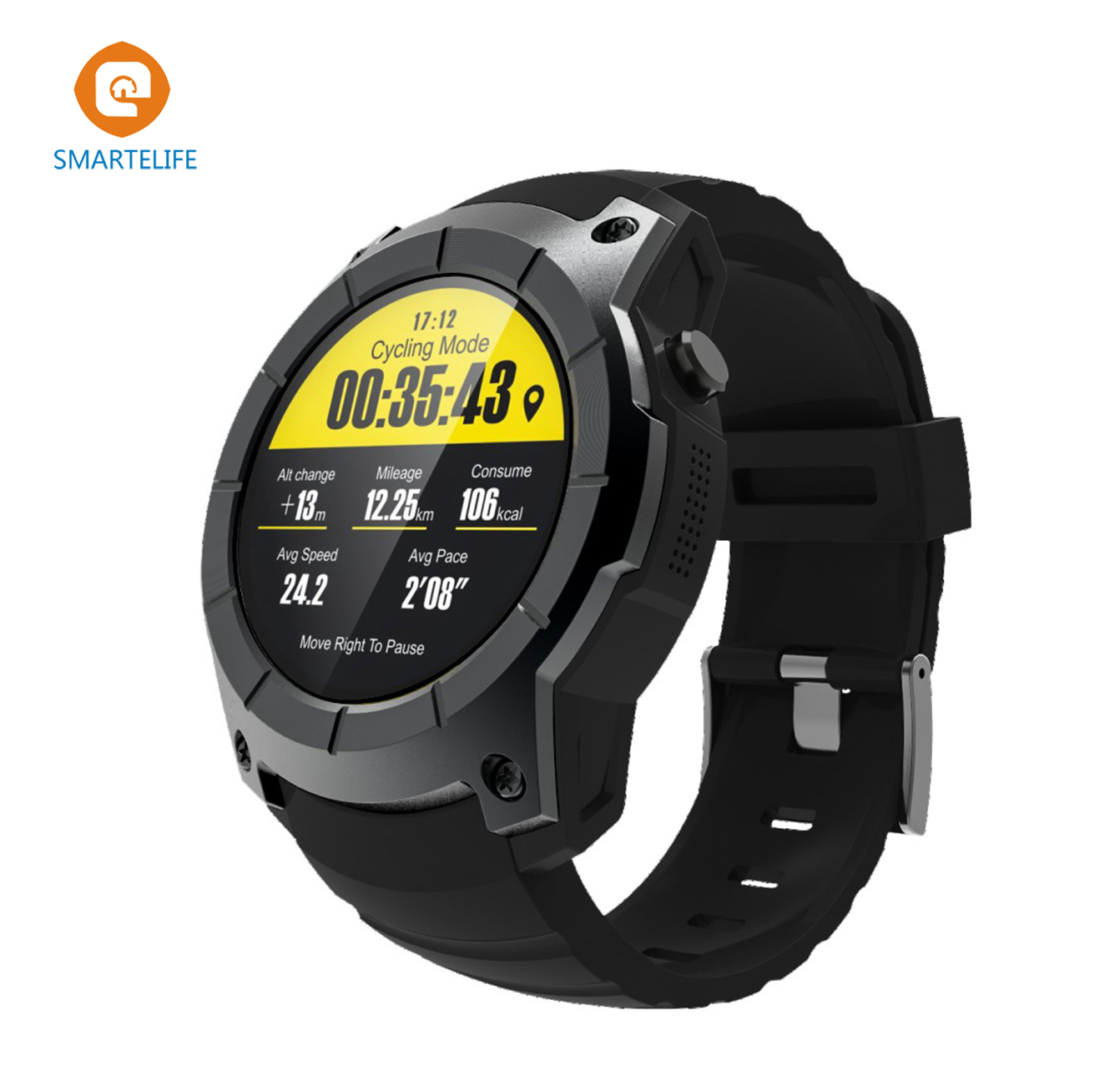 SMARTELIFE GPS Cycling Running Sport Smart Watch Phone with Heart Rate Monitor Pressure GSM Bluetooth Smartwatch for ISO Android gs8 1 3 inch bluetooth smart watch sport wristwatch with gps heart rate monitor pedometer support sim card for ios android phone
