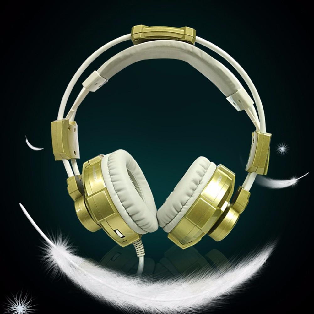 ФОТО Surround USB Gamer Gaming Headphones Luminous With Microphone for Computer  Headsets Glow Headphone High Quality