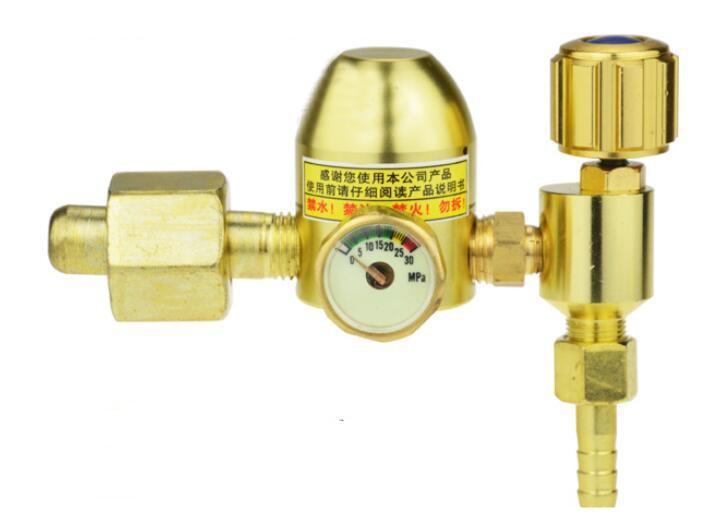 Energy-saving Argon Regulator Welding Regulator Gas Flowmeter for Tig/Mig Welding 30MPa double meters argon regulator welding regulator argon gas reduced pressure meter 25mpa
