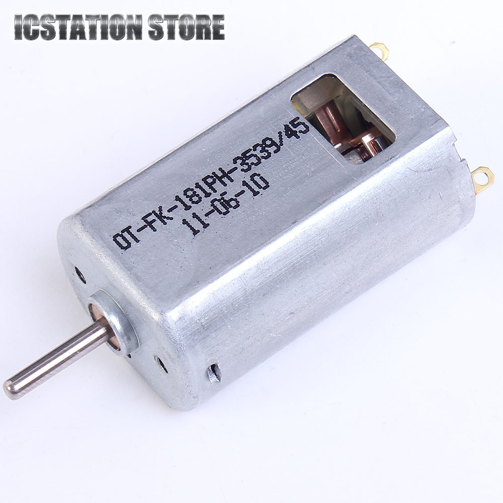 4.2V/6V 24000RPM 180 DC Motor With Heat Dissipation Hole Carbon Brush For Aircraft Model 181-3539 original johnson 395 motor 6v 12v 24v large power dc motor carbon brush motor diameter 27 5mm for rc model toys electrical tools