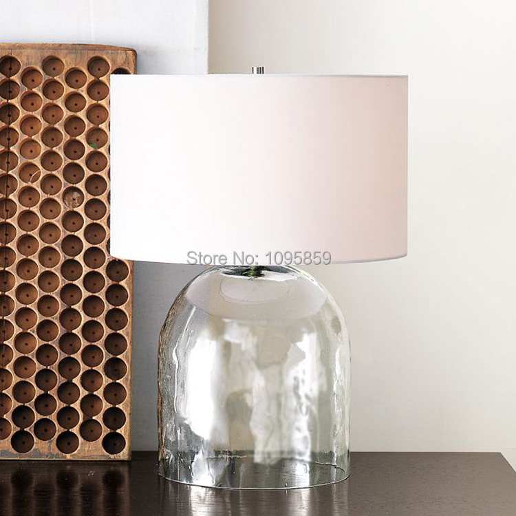 Modern glass vase dininng room table lamp bedroom restaurant white 1 x table lamp mozeypictures Gallery