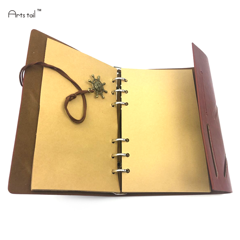 Plating PU Vintage Pirate Diary Notebook Agenda with Faux Leather Cover Note Book Korean Stationery School Office Gift vintage with love notebook gift diary note book agenda planner material escolar caderno office stationery supplies gt089