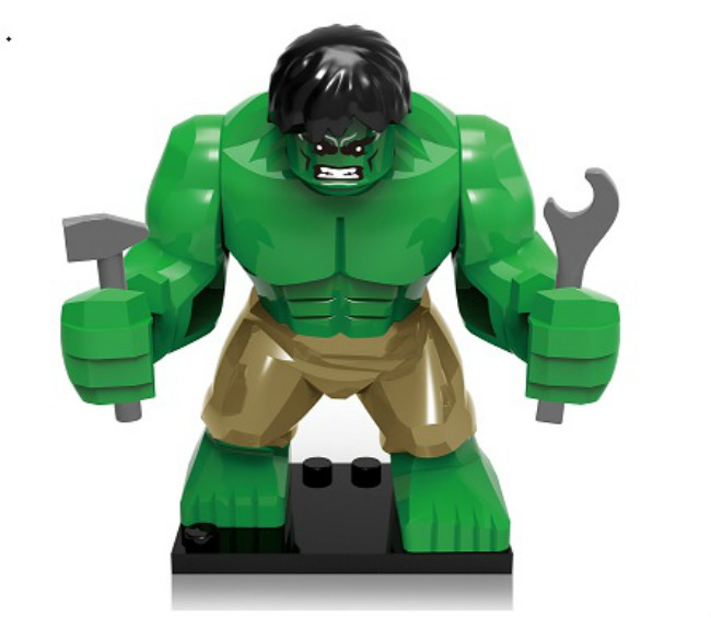 XH 162 Building Blocks Super Heroes Avengers 7Cm Big GREEN Hulk Darth Vader  Storm Trooper Clone Tropper Bricks Toys