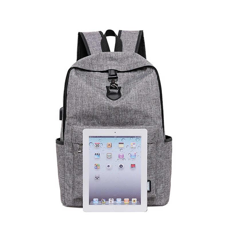 Зарядка через Usb Мужской рюкзак нейлоновые школьные ранцы для мальчиков подростков большой емкости подростков студентов школьный рюкзак для женщин