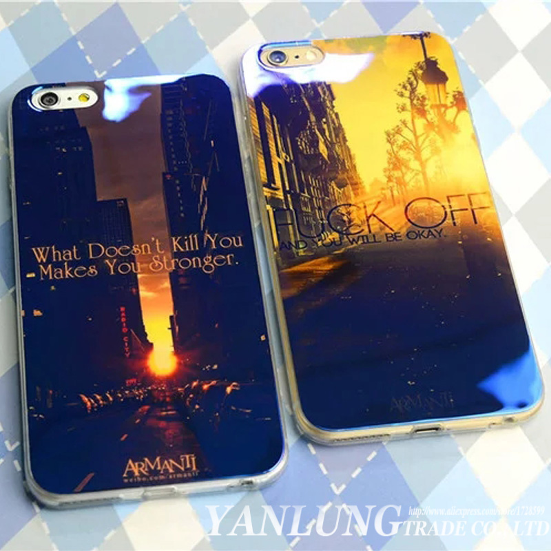 Colorful <font><b>Blu-ray</b></font> Coque Fundas for iPhone 5S 5 SE 6 6S 7 Plus Case Beauty Scenery Space Tower Sunset <font><b>City</b></font> <font><b>Blue</b></font> Laser Rubber Cover