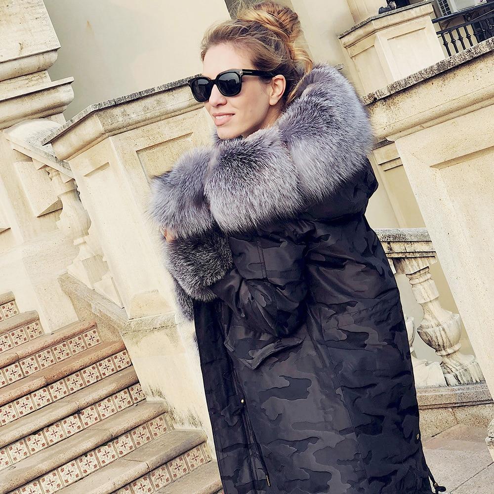 Argent Pleine Capuchon Femmes De Réel Rex Qualité En Cuir À Lapin Big Parka Doublure Col Fox Eifurkop Amovible Fourrure Supérieure UHqExqwIO