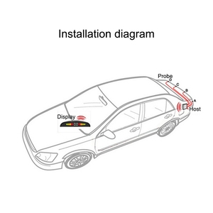 Image 3 - Car Parking Sensor  Reversing Radar Color LED With 4 Monitoring Detectors Bibi Three level Heartbeat Crescent Radar