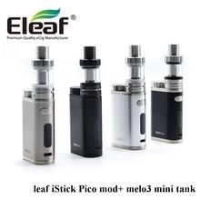 Оригинальный eleaf istick Пико комплект с пико 75 Вт TC поле mod электронная сигарета Melo 3 мини-танк проекты устранимые VAPE полную комплект