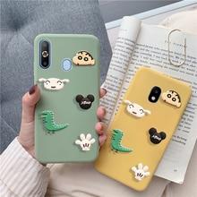 matte 3D cartoon dinosaur minnie case for Samsung Galaxy a8 a9 star lite a5 a7 a3 2017 2016 2018 a9s a8s a6s a6 mickey cute capa
