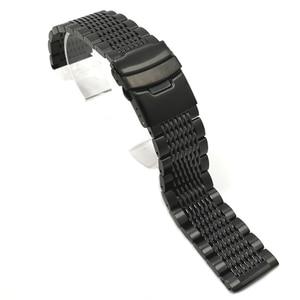 Image 3 - BEAFIRY 18mm 20mm 22mm 24mm נירוסטה שחור כסף אבזם רצועת השעון באיכות גבוהה שעוני יד רצועת קלאסי עלה זהב כחול