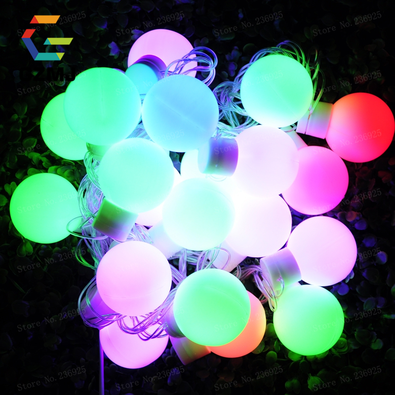5M 20LED Christmas Lights Outdoor RGB LED String Fairylights for Party Wedding Bedroom Home Holiday Light Event Hotel Decoration