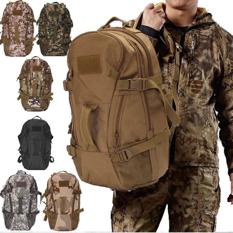 40L Military Tactical Backpack Large Capacity camping hiking Mountaineering Backpack Nylon Waterproof outdoor bag koraman professional 40l knapsack outdoor waterproof mountaineering bag nylon backpack wear resistant tourist strip package 1406