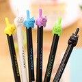 48 шт./лот оптовая продажа милые кавайные Мультяшные кошки звезда 0 5 мм черные гелевые ручки студенческие милые школьные офисные канцелярски...