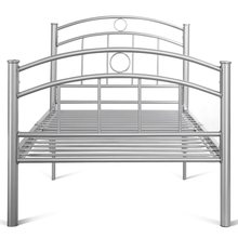 "44.2 Lbs 83"" X 42"" X 35"" Twin Size Metal Bed High Quality Frame Steel Black Silver Sturdy Durable Home School Bed HW52056(China)"