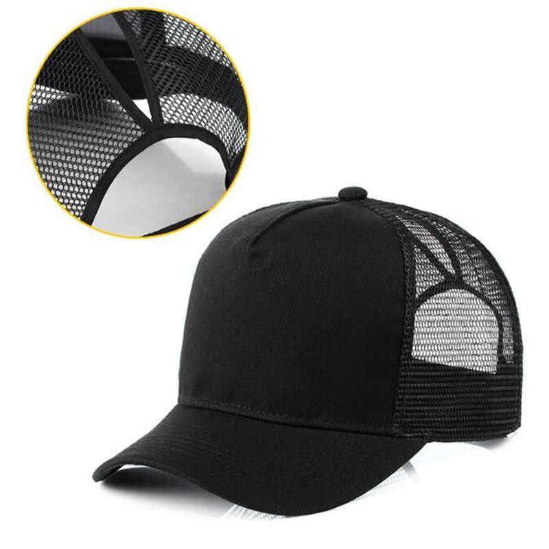 ... Xuyijun Ponytail Baseball Cap Women Messy Bun Baseball Cap Girls Snapback  Caps Summer Sports Mesh Hats 2116d15e20f9