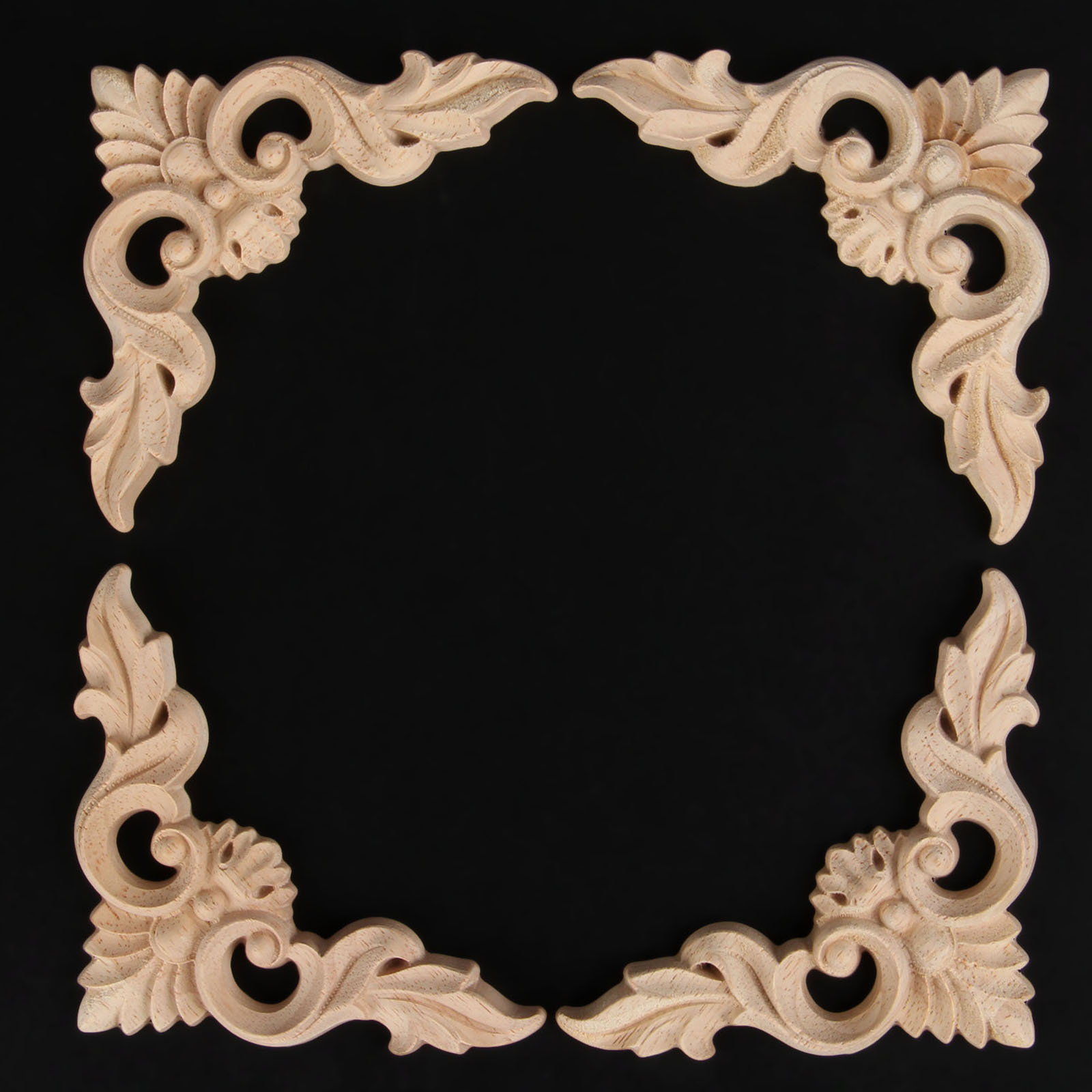 Pc woodcarving decal corner wood carved wall door