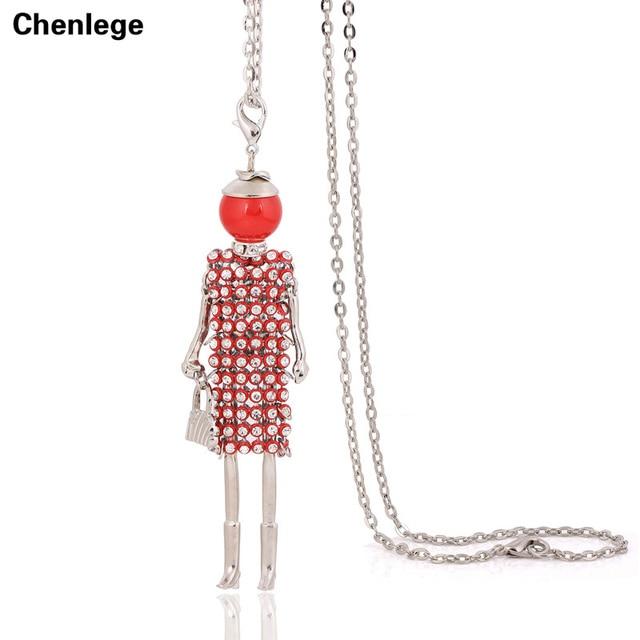 US $1.78 57% OFF|Verklaring handgemaakte vrouwen lange ketting volledige crystal strass pop kettingen hangers 2017 bohemian nieuws leuke grote choker