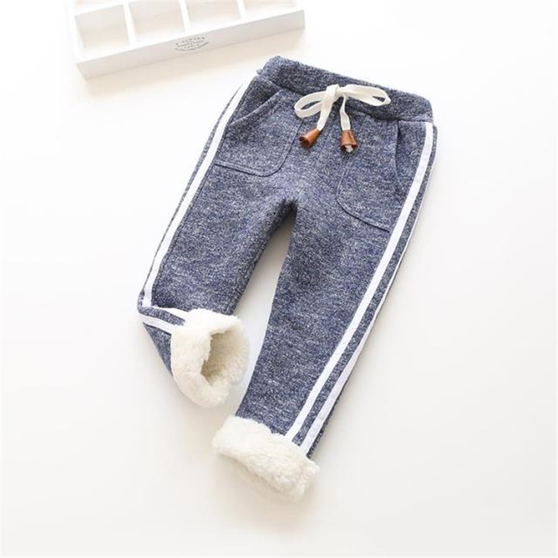 все цены на BibiCola winter children boys sport pants girls warm thick cotton pants kids plus velvet elastic waist trousers baby leggings онлайн